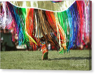 Fancy-dancer Canvas Print - Wacipi Fancy Dancer by Heidi Hermes