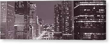 Wacker Drive, River, Chicago, Illinois Canvas Print by Panoramic Images