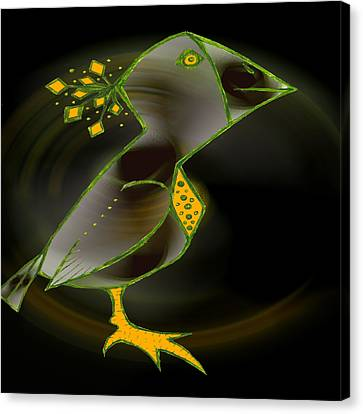 Wacko Bird Canvas Print by Josephine Ring