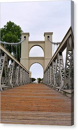 Waco Suspension Bridge Canvas Print by Christine Till