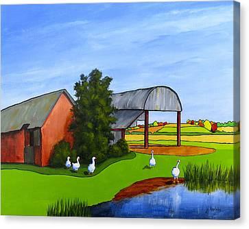 Waddle Pond Canvas Print by Jo Appleby