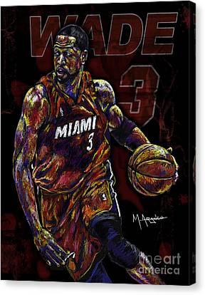 Bulls Canvas Print - Wade by Maria Arango
