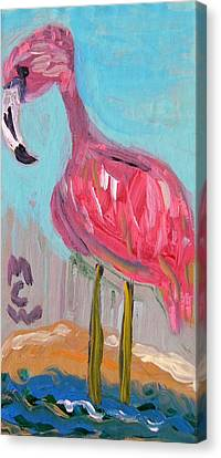 Canvas Print featuring the painting Wade Right On In by Mary Carol Williams