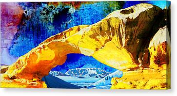 Wadi Rum Natural Arch Canvas Print by Catf