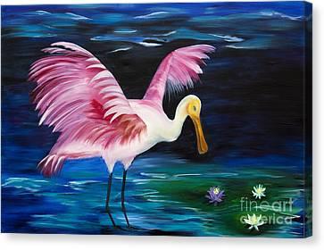 Tropical Canvas Print - Wading Around by Christine Baeza