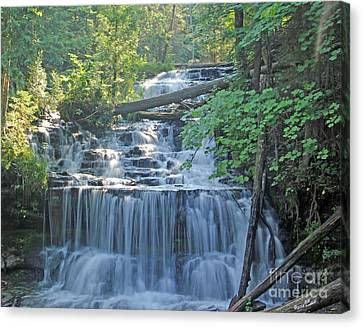 Wagner Falls  Soft Water Effect Canvas Print