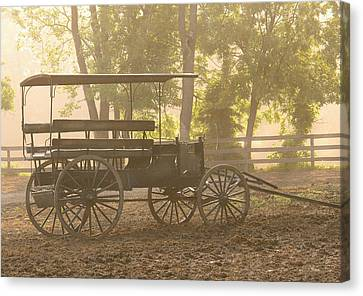 Wagon - Abe's Buggie Canvas Print by Mike Savad