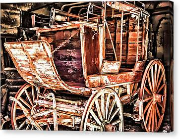 Canvas Print featuring the painting Wagon by Muhie Kanawati
