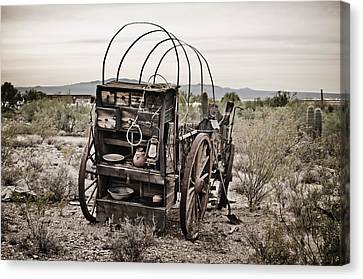 Wagon Canvas Print by Swift Family