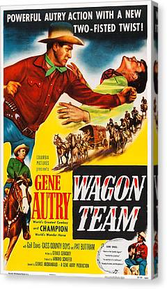 Wagon Team, Us Poster Art, Gene Autry Canvas Print
