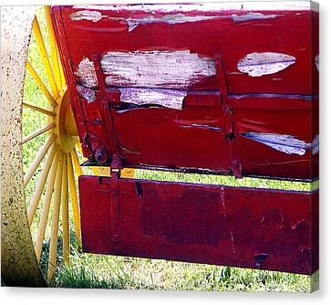 Canvas Print featuring the photograph Wagon by Tom Romeo