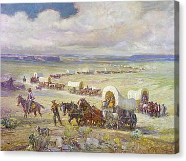 Conestoga Canvas Print - Wagon Trail by Granger
