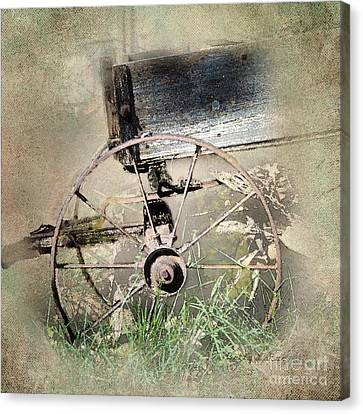 Wagon West Canvas Print by Betty LaRue