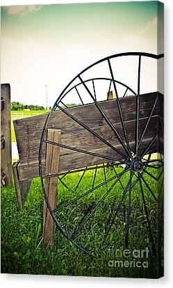 Wagon Wheel Canvas Print by Colleen Kammerer