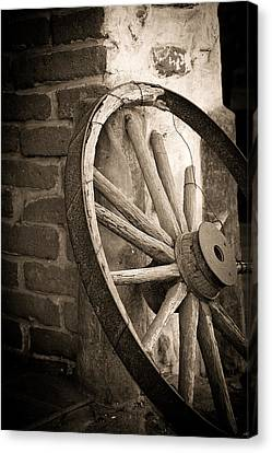 Wagon Wheel Canvas Print by Peter Tellone