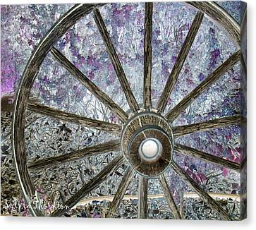 Wagon Wheel Study 1 Canvas Print by Sylvia Thornton