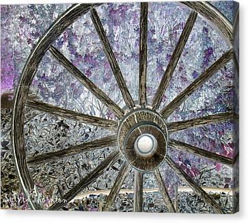 Canvas Print featuring the photograph Wagon Wheel Study 1 by Sylvia Thornton