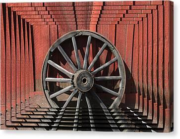 Wagon Wheel Zoom Canvas Print by Garry Gay