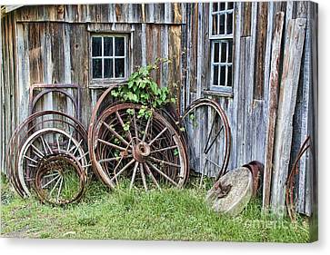Wagon Wheels In Color Canvas Print by Crystal Nederman