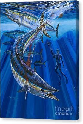 Wahoo Spear Canvas Print by Carey Chen