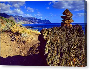 Canvas Print featuring the photograph Waianae Mountain Range From Kaena Point by Aloha Art