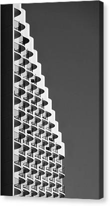 Waikiki Hotel With A Wave Canvas Print by Tin Lung Chao