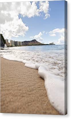 Waikiki Shore Canvas Print by Brandon Tabiolo