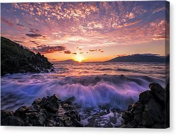Wailea Glow Canvas Print by Hawaii  Fine Art Photography