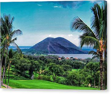 Wailea Golf 6 Canvas Print by Dawn Eshelman