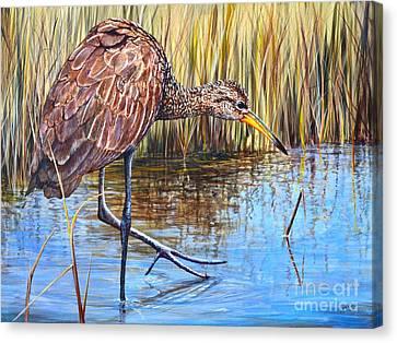 Wailing Bird Canvas Print by AnnaJo Vahle