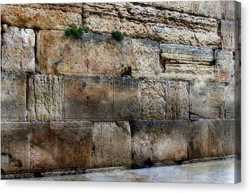 Canvas Print featuring the photograph Wailing Wall In Israel by Doc Braham