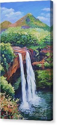 Wailua Falls Canvas Print by John Clark