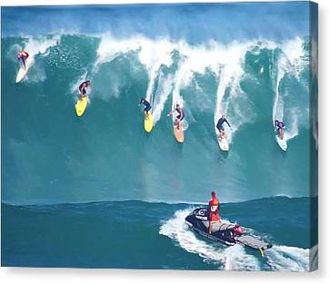 Waimea Bay Lifeguard Canvas Print by Kevin Smith