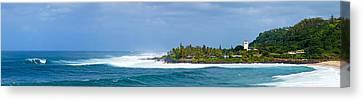 Waimea Bay Panorama Canvas Print by Kevin Smith