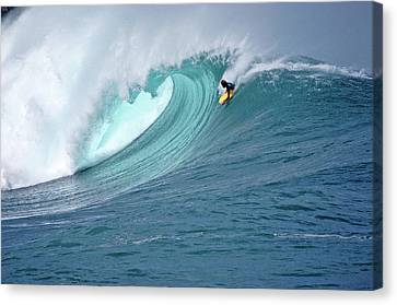Waimea Boogieboarder Canvas Print by Kevin Smith