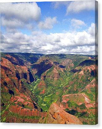 Canvas Print featuring the photograph Waimea Canyon by Amy McDaniel