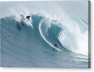 Waimea Surfers Canvas Print