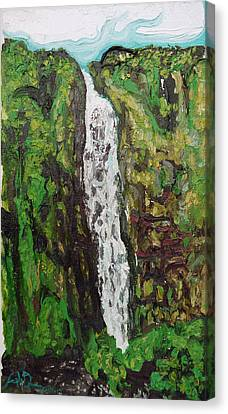 Waimoku Falls Canvas Print by Joseph Demaree