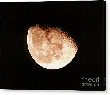 Waning Moon Canvas Print - Waining Gibbous Moon by John Chumack