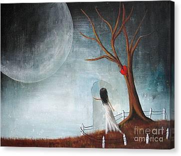 Wait Here I'll Be Right Back By Shawna Erback Canvas Print by Shawna Erback