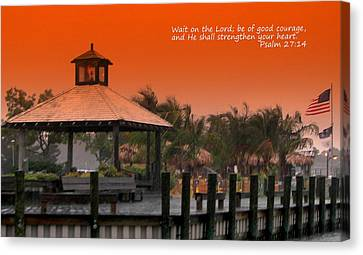 Wait On The Lord Canvas Print by Pamela Hyde Wilson