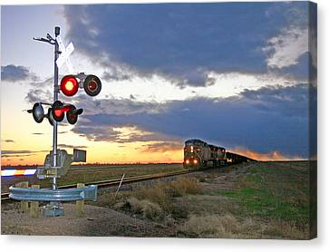 Canvas Print featuring the photograph Wait Your Turn by Shirley Heier