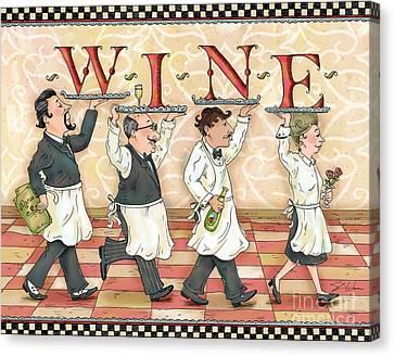 Waiters Wine Canvas Print by Shari Warren