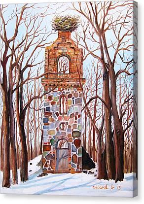 Waiting At Church Ruins  Canvas Print