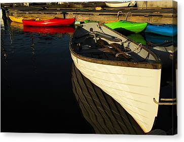 Waiting At The Dock Canvas Print by Karol Livote