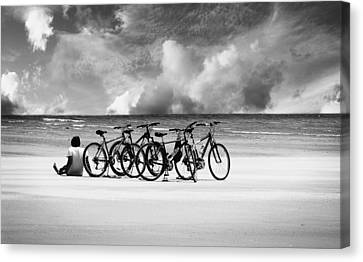 Waiting At The Edge Of The World Canvas Print by Laura Fasulo