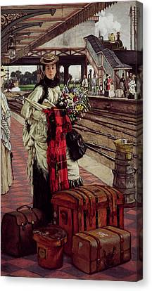 Waiting At The Station, Willesden Junction, C.1874 Canvas Print by James Jacques Joseph Tissot