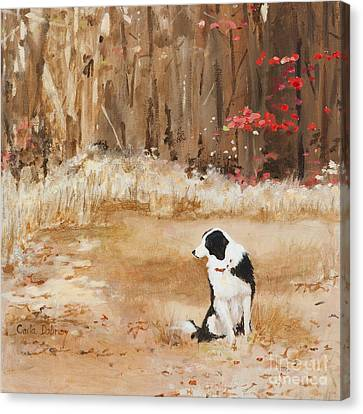 Waiting At Woods Edge Canvas Print by Carla Dabney