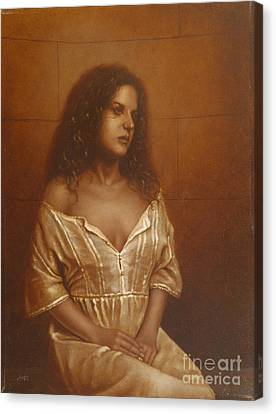 Waiting For Her Lover Canvas Print by John Silver