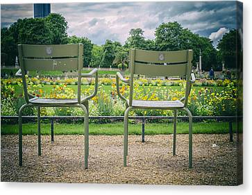 Empty Chairs Canvas Print - Waiting For Lovers by Georgia Fowler